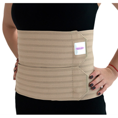 ITAGAB-309-W-MB - Ita-MedGABRIALLA® Breathable Abdominal Support Binder - Beige, Medium
