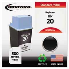 IVR20014 - Innovera Remanufactured C6614DN (20) Ink, 500 Page-Yield, Black