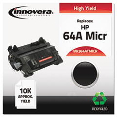 IVR364ATMICR - Innovera Remanufactured CC364A MICR Toner, 10000 Yield, Black
