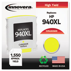 IVR4909ANC - Innovera Remanufactured C4909AN (940XL) Ink, 1400 Page-Yield, Yellow