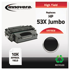IVR7553J - Innovera Remanufactured Q7553X(J) (53J)  Toner, 10000 Yield, Black