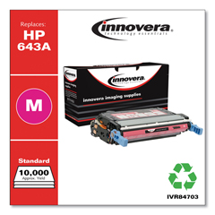 IVR84703 - Innovera Remanufactured Q5953A (643A) Laser Toner, 10000 Yield, Magenta