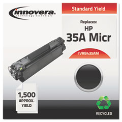 IVRB435AM - Innovera Remanufactured CB435A MICR Toner, 1500 Yield, Black