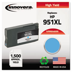 IVRN046AN - Innovera Remanufactured CN046AN (951XL), High-Yld Ink, 1500 Pg-Yld, Cyan