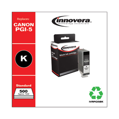 IVRPGI5BK - Innovera Remanufactured 0628B002 (PGI5BK) Ink, 500 Yield, Black