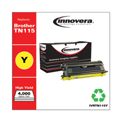 IVRTN115Y - Innovera Remanufactured TN115Y Toner, 4000 Yield, Yellow