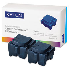 KAT39395 - Katun KAT39395 ColorQube 8570 Compatible, 108R00926 Solid Ink, 4400 Yld, 2/Box, Cyan