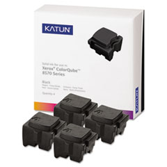 KAT39403 - Katun KAT39403 ColorQube 8570 Compatible, 108R00930 Solid Ink, 8600 Yld, 4/Box, Black