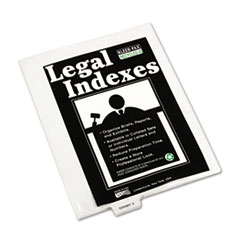 KLF81161 - Kleer-Fax® 80000 Series Exhibit Alpha Bottom Tab Legal Index Divider