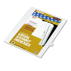 KLF82243 - Kleer-Fax® 80000 Series Numerical Side Tab Legal Index Divider