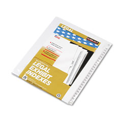 KLF83126 - Kleer-Fax® 80000 Series Side Tab Legal Index Divider Set