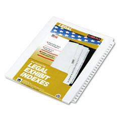 KLF83176 - Kleer-Fax® 80000 Series Side Tab Legal Index Divider Set