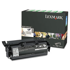 LEXX651H04A - Lexmark X651H04A High-Yield Toner, 25000 Page-Yield, Black