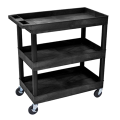 LUXEC111-B - Luxor3-Shelf High Capacity Tub Cart