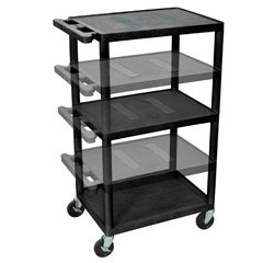 LUXLEDUO-B - LuxorMulti-Height Endura Video Equipment Table