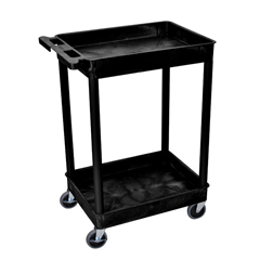 LUXSTC11-B - Luxor2-Shelf Tub Cart