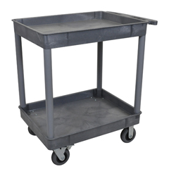 LUXTC11SP6-G - LuxorGray 2 Tub Cart W/ SP6 Casters
