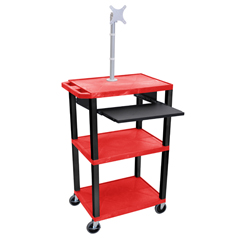LUXWTPS42RME-B - LuxorPresentation Cart with Monitor Mount & Pull Out Tray