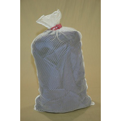 MAYL536RC-W - MaybeckPolyester Mesh Laundry Bag with Rubber Closure