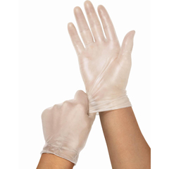 MED6PVC512 - MedlineCedar Vinyl Synthetic Exam Gloves - CA Only