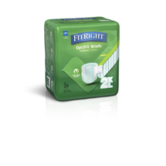 MEDFITPLUSXXL - MedlineFitRight Plus Briefs, 2XL, 80EA/CS