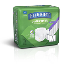 MEDFITRESTOREMDZ - MedlineFitRight Restore Briefs, Medium, 20EA/BG