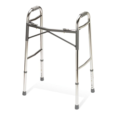 MEDG07767 - GuardianAdult Heavy-Duty Two-Button Folding Walkers