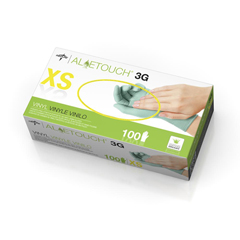 MEDMDS195173 - MedlineAloetouch 3G Powder-Free Latex-Free Synthetic Exam Gloves