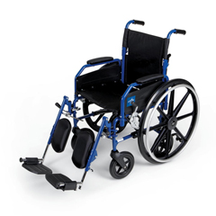 MEDMDS806300H2 - MedlineHybrid 2 Transport Wheelchair