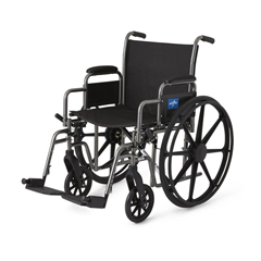 MEDMDS806400EE - MedlineK1 Basic Extra-Wide Wheelchair