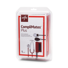 MEDMDS9136 - MedlineAneroid Sphygmomanometers, with Dual Head, Steth, Red