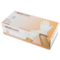 MEDMG1205H - MedlineMedline MediGuard® Powdered Latex Exam Gloves - Medium