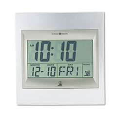 MIL625236 - Howard Miller® TechTime II Radio-Controlled LCD Wall or Table Alarm Clock