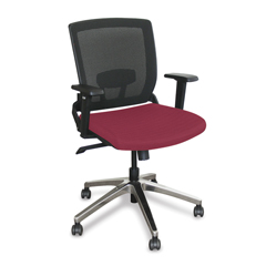 MLGWMCOPFA-F6557 - Marvel GroupOperational Mesh Chair, Raspberry Fabric/Aluminum Base