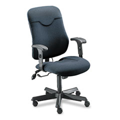 MLN9414AG2110 - Mayline® Comfort Series Executive Posture Swivel/Tilt Chair with Cut-Out Feature