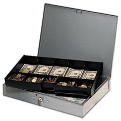 MMF2215CBTGY - STEELMASTER® by MMF Industries™ Locking Heavy-Duty Steel Extra-Wide Cash Box