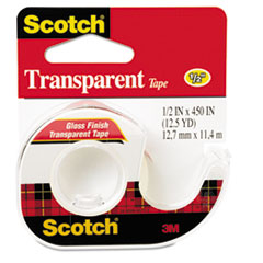 MMM144 - Scotch® Transparent Glossy Tape In Hand Dispensers