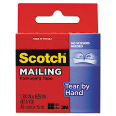 MMM3841 - Scotch® Tear-By-Hand Packaging Tape