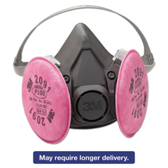 MMM6191 - 3M Half Facepiece Respirator 6000 Series, Reusable