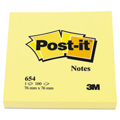 MMM654YW - Post-it® Notes Original Pads in Canary Yellow