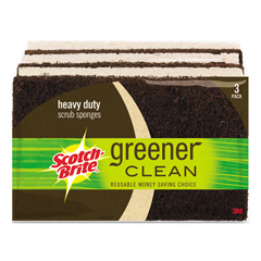MMM87033 - Scotch-Brite™ Greener Clean Heavy-Duty Scrub Sponge