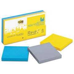 MMMR3306SSNY - Post-it® Super Sticky Colors of the World New York Notes
