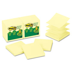 MMMR330RP12YW - Post-it® Greener Notes Original Recycled Pop-up Notes