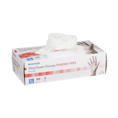 MON11161300 - McKessonExam Glove McKesson NonSterile Powder Free Vinyl Ambidextrous Smooth Clear Not Chemo Approved X-Large, 100/BX