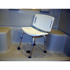 MON11443300 - McKessonShower Safety Chair sunmark® Econo 13.5 to 17.5 Inch 250 lbs.