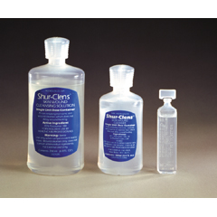 MON12202104 - ConvaTecGeneral Purpose Wound Cleanser Shur-Clens Wound Cleanser 20 mL Pour Bottle