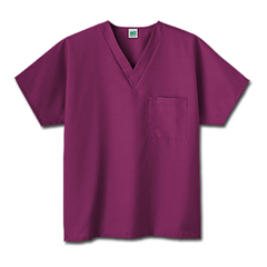 MON14008502 - White SwanFundamentals One Pocket V-Neck Scrubs Top, Wine, 2XL
