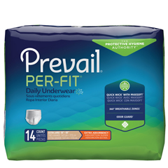 MON14503100 - First QualityPer Fit Protective Underwear Pullon Adult 58in -68in Extra Large