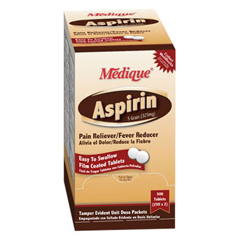 MON16132700 - Medique ProductsPain Reliever Aspirin® Enteric Coated Tablet 325 mg, 2EA/PK 250PK/BX
