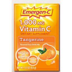 MON17912701 - PfizerOral Supplement Emergen-C Tangerine 0.3 oz. Individual Packet Powder